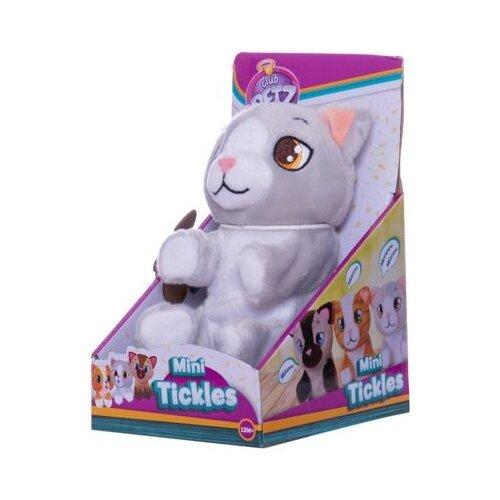 Купить Интерактивная мягкая игрушка IMC Toys Mini Tickles Котенок серый, Роботы и трансформеры