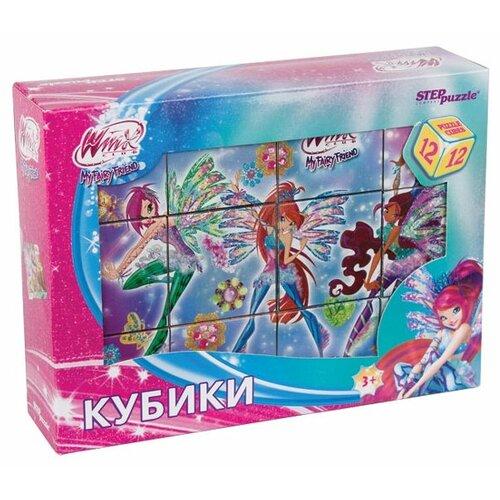 Купить Кубики-пазлы Step puzzle Rainbow Winx 87146, Детские кубики