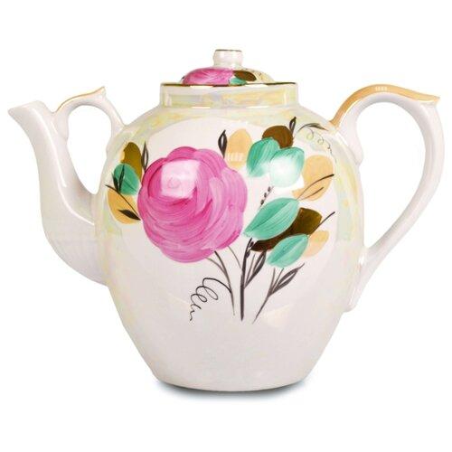 Дулёвский фарфор Заварочный чайник Русский 4,5 л Роза