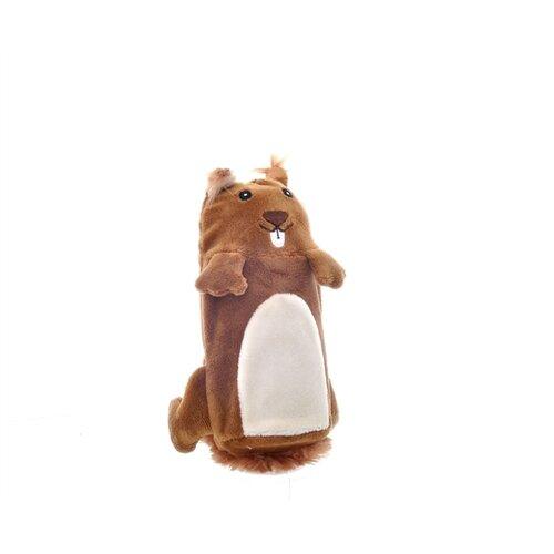 Игрушка для собак GiGwi Dog Toys Белка (75015) коричневый/белый