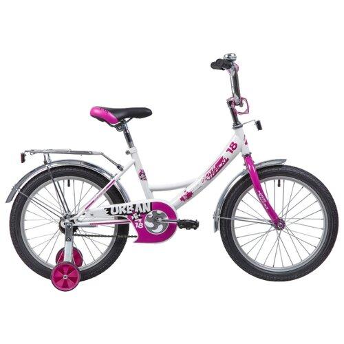 Детский велосипед Novatrack Urban 18 (2019) белый (требует финальной сборки) велосипед ghost square urban 6 2016