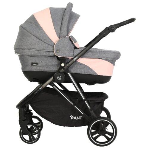 цена на Универсальная коляска RANT Neo (2 в 1) grey/pink