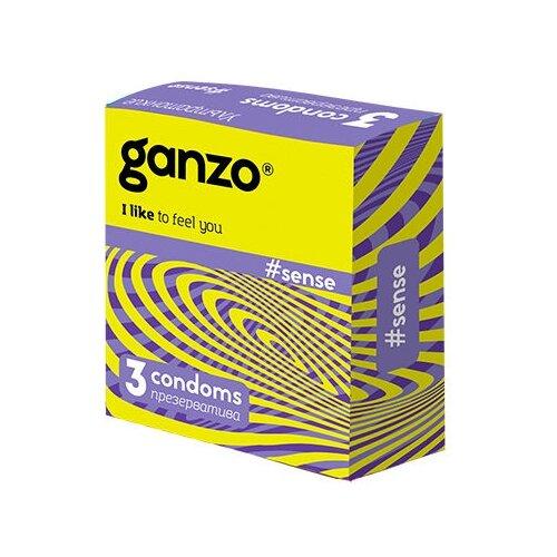 Презервативы Ganzo Sense, 3 шт. недорого