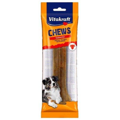 Лакомство для собак Vitakraft CHEWS Косточка прессованная из говяжьей кожи 22 см, 180 г