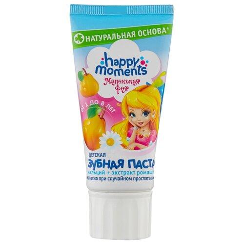 Купить Зубная паста Happy Moments Волшебный фрукт от 1 до 8 лет, 60 мл, Гигиена полости рта