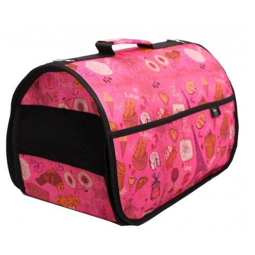 Переноска-сумка для собак Lion Lux M 43х27х29 см розовый майка для собак lion manufactory lm21001 03 размер m