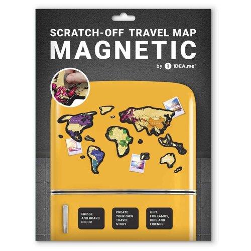 1DEA.me Скретч Карта Мира Magnetic