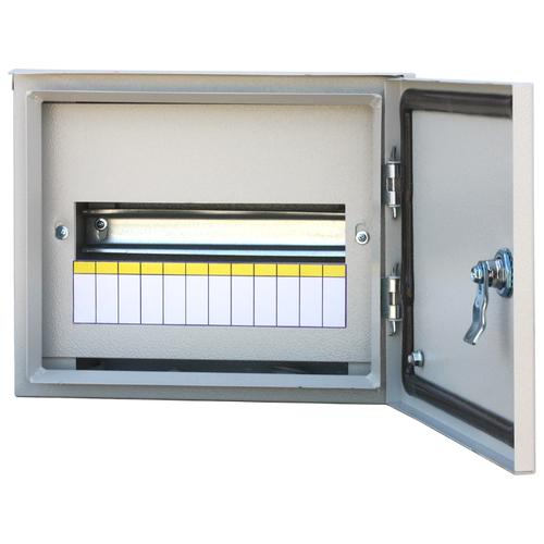 Щит распределительный RUCELF ЩРН-12 IP54 навесной, металл, модулей 12 серый