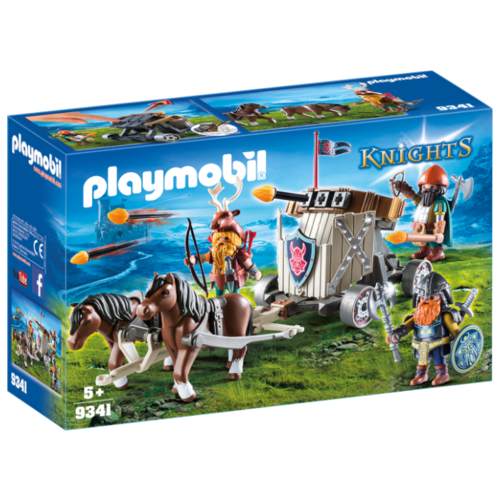 Набор с элементами конструктора Playmobil Knights 9341 Упряжка с баллистой гномов, Конструкторы  - купить со скидкой