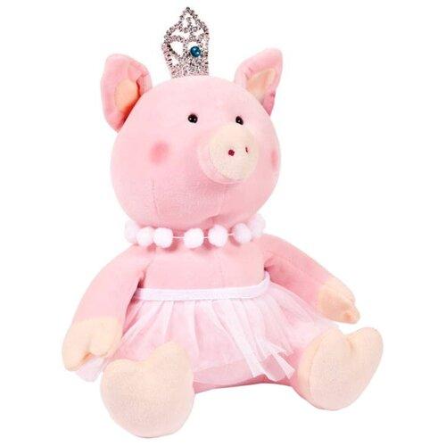 Мягкая игрушка ABtoys Свинка принцесса с короной 22 см