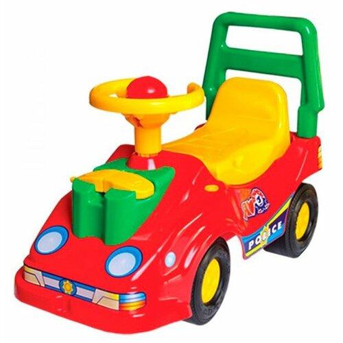 Фото - Каталка-толокар ТехноК Автомобиль для прогулок с телефоном (2490) со звуковыми эффектами красный каталки технок автомобиль для прогулок т6665