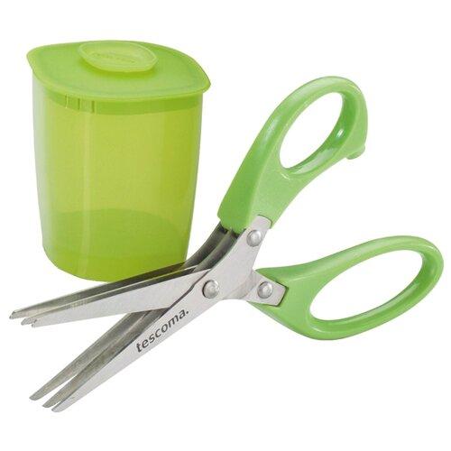 Ножницы Tescoma Presto для зелени 15 cм с контейнером зеленый