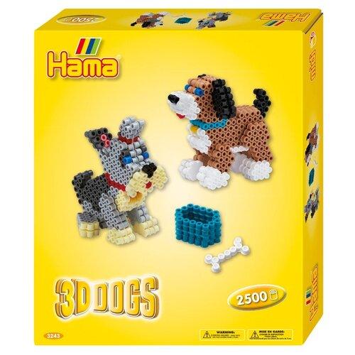 Hama Набор термомозаики 3D Собачки (3243)Поделки и аппликации<br>