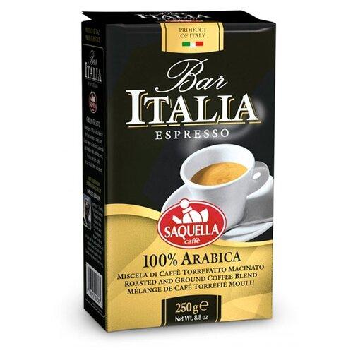 Фото - Кофе молотый Saquella Bar Italia 100% Arabica, 250 г кофе saquella кофе в зернах espresso gran arabica 250 г