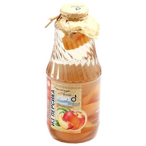 Компот Ecofood Armenia из персиков, стеклянная бутылка 1000 млФрукты и ягоды консервированные<br>
