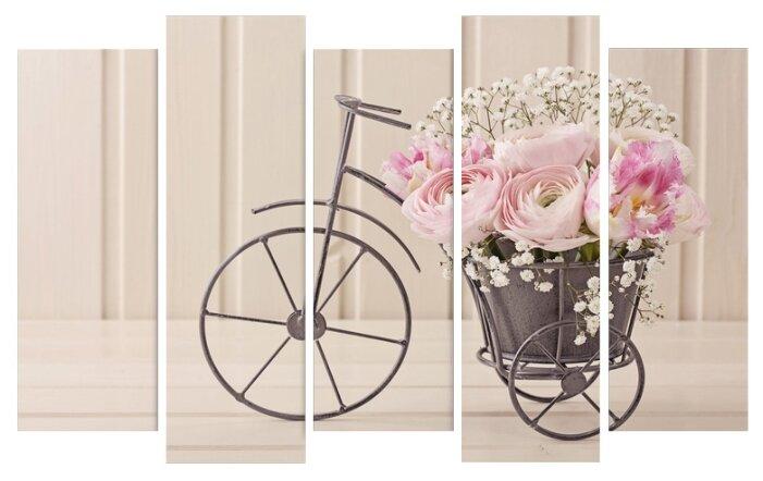 Модульная картина KARTINA style Розовое кашпо