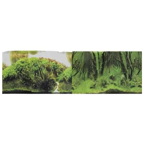 Пленочный фон Prime Растительные холмы/Коряги с растениями двухсторонний 60х150 см