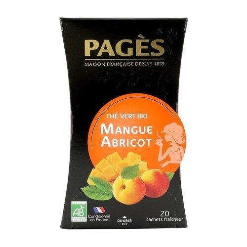 Чай зеленый Pages Mangue abricot в пакетиках, 20 шт.Чай<br>