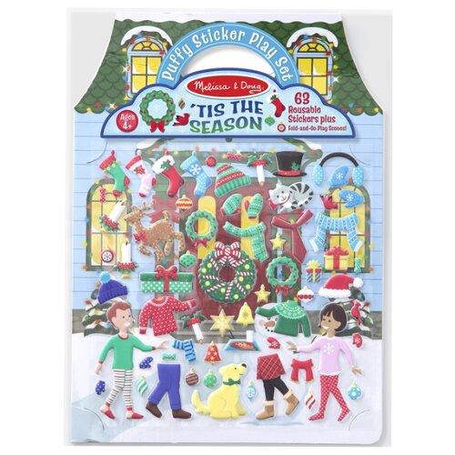 Купить Melissa & Doug Набор наклеек с фонами Новый год (8586), Наклейки