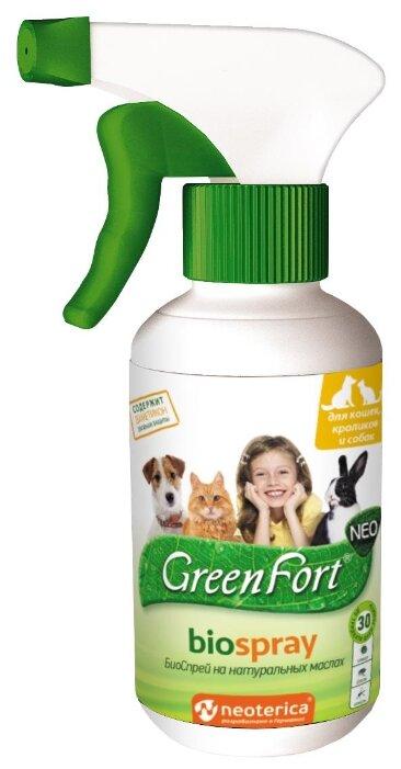 GreenFort спрей от блох и клещей Neo BioSpray для кошек и собак