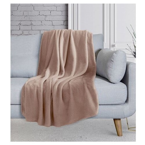 Плед DeNASTIA Тедди, 200 x 220 см, коричневый плед estro vaniglia 220 х 200 см