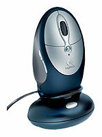 Мышь Logitech Cordless Click! Plus Rechargeable Optical Mouse Metallic USB+PS/2