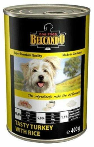 Корм для собак Belcando Вкусная индейка с рисом (0.4 кг) 24 шт.