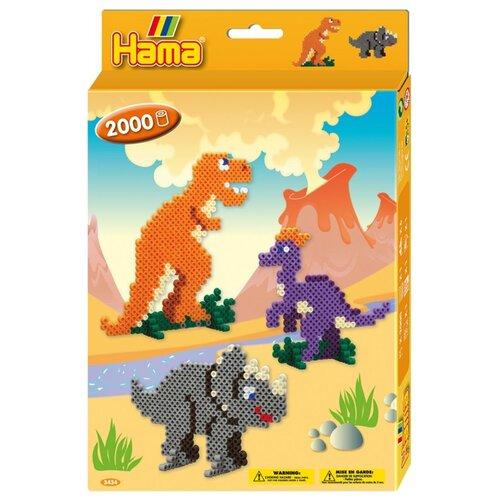 Купить Hama Набор термомозаики Мир динозавров (3434), Аппликации