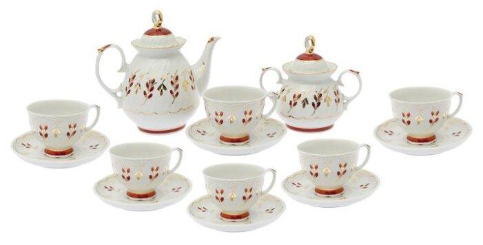 Чайный сервиз Добрушский фарфоровый завод Мария (Ритм) 14 предметов