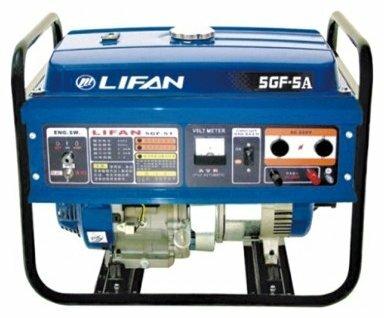 Бензиновый генератор с автозапуском LIFAN 5GF-5A 5 кВт