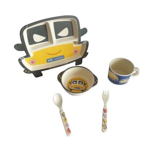 Комплект посуды Baby Ryan Машинка (BF005) черный