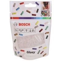 Клеевой пистолет BOSCH Gluey Transparent 7х20 мм, 70 шт