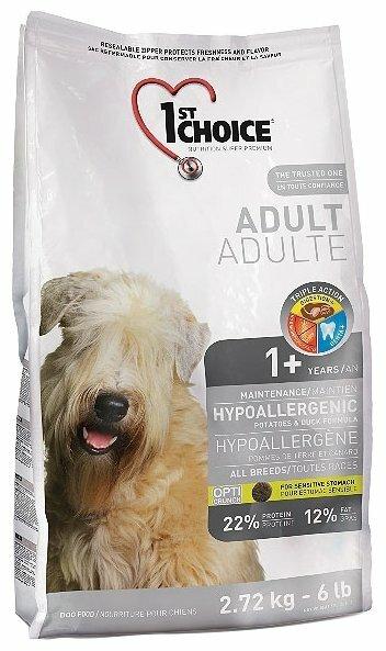 Корм для собак 1st Choice Adult утка с картофелем 2.72 кг