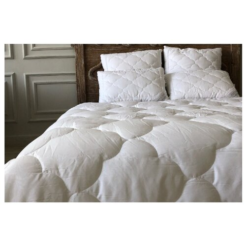 Одеяло Bohemique studio White Pearl холофайбер жемчужный белый 155 х 210 смОдеяла<br>