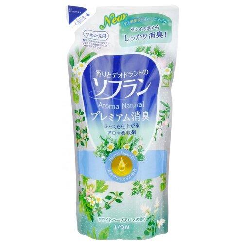 Кондиционер для белья Aroma Natural с натуральным ароматом луговых трав Lion 0.48 л пакет