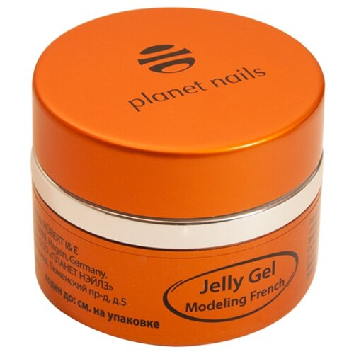 Краска planet nails Modeling French Jelly Gel, 30 г ярко-белый