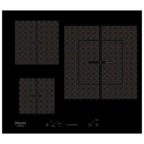 Индукционная варочная панель Hotpoint-Ariston KIS 630 XLD B варочная панель электрическая ariston kis 841 f b черный
