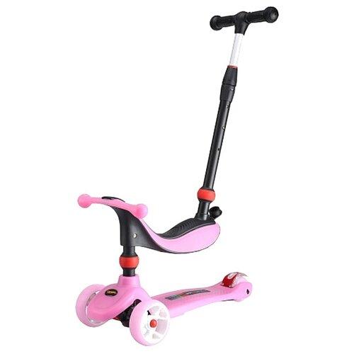 Самокат-беговел Larsen Mini 3в1 pink самокат hubster mini flash