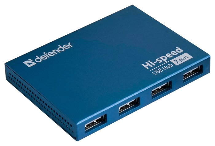 USB-концентратор Defender Quadro Septima Slim (83505) разъемов: 7