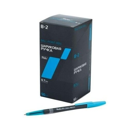Hatber набор шариковых ручек B-2, 0.7 мм, синий цвет чернил