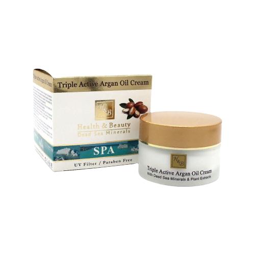 Health & Beauty Triple Active Argan Oil Cream Активный крем для лица с аргановым маслом, 50 мл chi luxury black seed oil curl defining cream gel