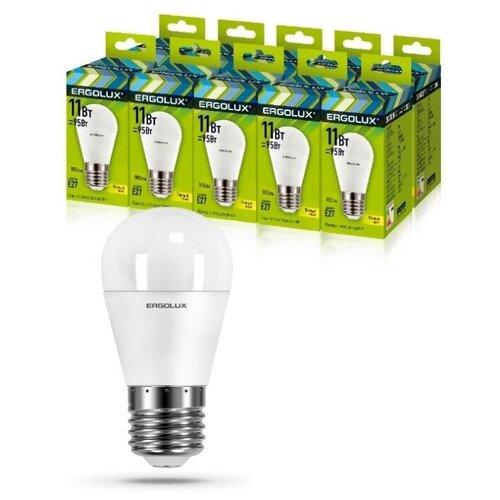Фото - Светодиодная Лампа Ergolux LED-G45-11W-E27-3K упаковка 10 шт светодиодная лампа ergolux led g45 11w e27 6k упаковка 10 шт