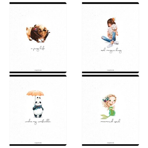 Купить Greenwich Line Упаковка тетрадей Cute & lovely N5c48-26482, 5 шт./4 дизайна, клетка, 48 л., Тетради