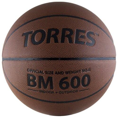 Баскетбольный мяч TORRES B10026, р. 6 темно-коричневый/черный
