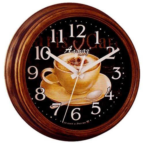 Часы настенные кварцевые Алмаз C38 темно-коричневый