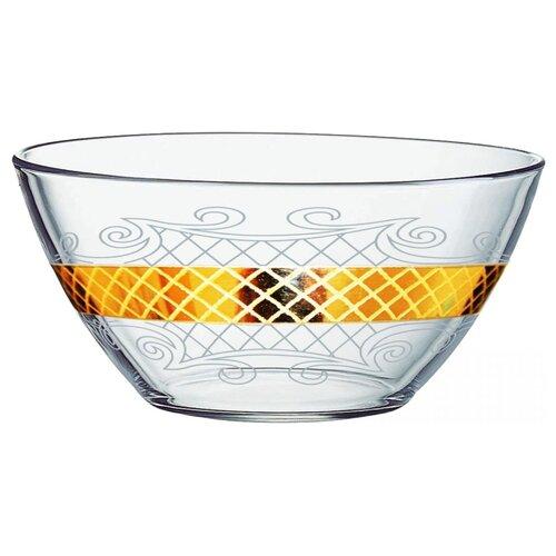 ГУСЬ-ХРУСТАЛЬНЫЙ Салатник Винтаж 19 см бесцветный/золотой