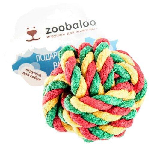 Мячик для собак Zoobaloo Кулак обезьяны канат 10см