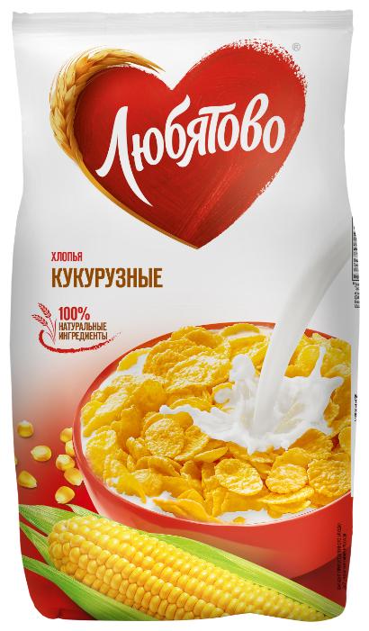 Готовый завтрак Любятово Хлопья кукурузные, пакет, 300 г