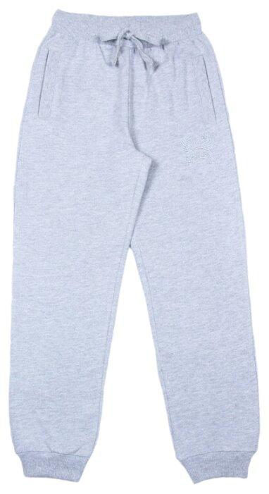 Брюки cherubino размер (128)-64, серый меланж