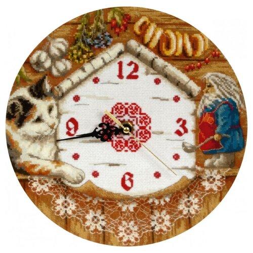 PANNA Набор для вышивания Часы. Домовенок Поварешкин 24 х 24 см (CH-1393)